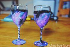 The Fresh Heart: DIY // Galaxy Wine Glasses