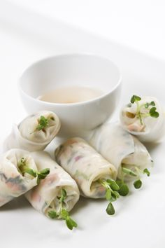 Salad Rolls with Julienne Vegetables  #culinarycapers #canape #horsdoeuvre #catering http://www.culinarycapers.com/ Photo: Chef Margaret Chisholm