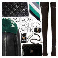 """Paris Fashion Week"" by pastelneon ❤ liked on Polyvore featuring Vetements, Balenciaga, Chanel, Annoushka, Yves Saint Laurent, Gucci, Morphe, parisfashionweek and Packandgo"