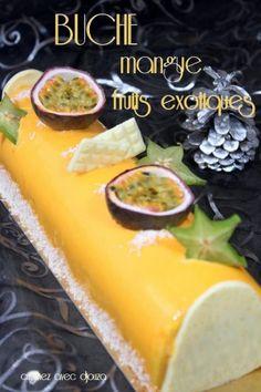 Easy Christmas buche recipe by marionmassa Mousse Dessert, Mousse Fruit, Nutella, Parfait Desserts, Christmas Desserts, Christmas Time, Christmas Gifts, 4 Ingredients, Cake Recipes