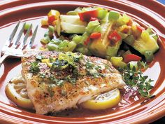 Lemon Red Snapper with Herbed Butter Snapper Fillet Recipes, Baked Snapper, Red Snapper Fillet, Fish Dishes, Seafood Dishes, Seafood Recipes, Seafood Meals, Salmon Dishes, Cooking Red Snapper