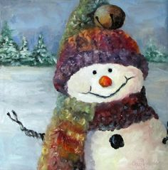 Snowman I - Christmas Series I Poster by Cheri Wollenberg. All posters are professionally printed, packaged, and shipped within 3 - 4 business days. Choose from multiple sizes and hundreds of frame and mat options. Christmas Paintings On Canvas, Christmas Canvas, Christmas Balls, Christmas Snowman, Christmas Crafts, Christmas Ornaments, Snowmen Paintings, Xmas, Snowman Faces