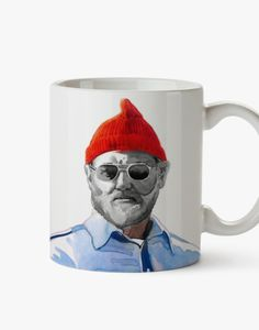 Hey, I found this really awesome Etsy listing at https://www.etsy.com/listing/192782597/zissou-red-hat-mug-tribute-to-life