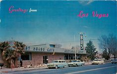 Greetings from Las Vegas NV Greyhound Bus Depot and Post House Cafe