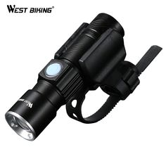 웨스트 자전거 자전거 라이트 울트라 밝은 스트레치 줌 크리어 Q5 200 메터 자전거 전면 손전등 램프 USB 충전식 자전거 빛