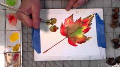 acorns and maple leaf watercolor tutorial i love this tutorial