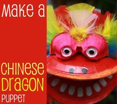 Have some fun this Chinese New Year of the Dragon by making a colourful dragon puppet.  So easy to make with basic items you may already have in your craft box.
