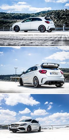 Dynamic and sporty. Photos by Marcel Hobrath for #MBsocialcar [Mercedes-AMG A 45 4MATIC | Fuel consumption combined: 7.3–6.9 l/100km | combined CO₂ emissions: 171–162 g/km | http://mb4.me/efficiency_statement]