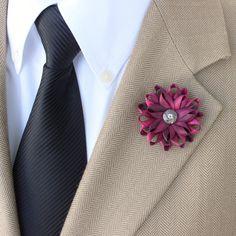 Lapel Flower for Men Hot Pink Lapel Flower for by PetalPerceptions
