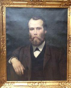 Henri SIEURAC (Toulouse 1823- Paris 1863)   PORTRAIT  -  HUILE SUR TOILE  - 1862  -  ELEVE DE DELAROCHE !!!
