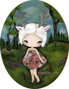 Hey, I found this really awesome Etsy listing at https://www.etsy.com/listing/68893815/deer-print-spring-forest-flower-dress