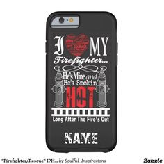 """Firefighter/Rescue"" IPHONE 6/6S TOUGH CASE Tough iPhone 6 Case"