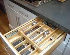 House Beautiful Kitchen of the Year 2009 - Kitchen Detail Photos - cutlery drawer