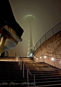Make your Destination Seattle, Wa. and experience the Space Needle in the Fog!    Photo Credit- Justin Kraemer Photography