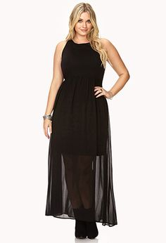 Edgy Harness Back Maxi Dress | FOREVER21 PLUS  I would love this. Not too sure about the harness back but I could throw a jacket on over that