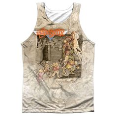 Aerosmith Toys in the Attic White 100% Poly Tank-Top T-Shirt