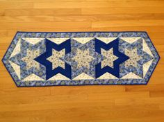 Overlapping Stars Quilted Hannukah Table by MarvelsByMarilyn