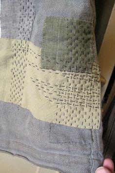 Sashiko stitching on Japanese travel vest - Stuff You Can't Have: Extreme Mending (Uber Boro) Sashiko Embroidery, Japanese Embroidery, Embroidery Stitches, Hand Embroidery, Embroidery Books, Machine Embroidery, Embroidery Designs, Embroidery Scissors, Embroidery Supplies