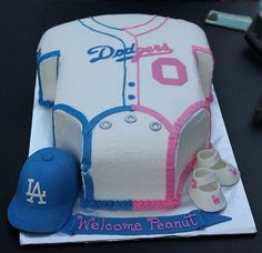 baby shower dodger cakes - Google Search