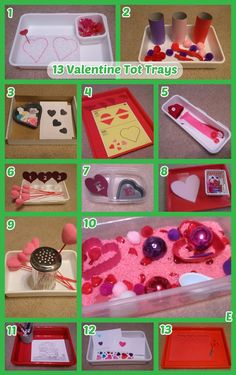 13 fun Valentine's Day themed tot trays and activities for toddlers! We used this set with our 2.5 year old boy.