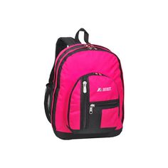 Everest Double Compartment Backpack (3130 RSD) ❤ liked on Polyvore featuring bags, backpacks, pink, backpack bags, rucksack bags, everest, everest backpack and pink backpack