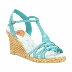 #shopping, #shipping, #UKretailers #Skypax We love these Rocket Dog DABBLE TURQUOISE wedges - Sparktoo.co.uk has amazing #shoes!
