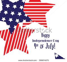 Happy 4th of July sticker cards