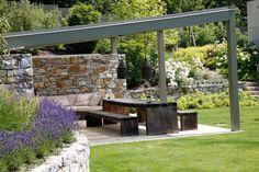ideen steinmauer aus natursteinen - Google-Suche Terrace, Home And Garden, Outdoor Decor, Outdoor Ideas, Patio, Flowers, Houses, Home Decor, Dining