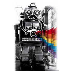 """Mr. Roboto Goes Sightseeing"" - Threadless"