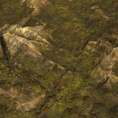 Substance_Designer - 100% procedural Mossy Rock Revisited, Robert Wilinski on ArtStation at https://www.artstation.com/artwork/WPomy