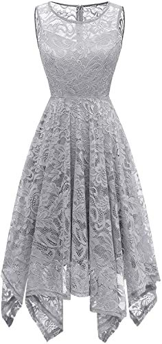 Lingswallow Womens White Elegant Long Sleeve Lace A Line Cocktail Maxi Dress