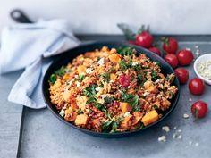 AURA jauheliha-bataattipannu Paella, Fried Rice, Seafood, Grains, Curry, Meat, Baking, Ethnic Recipes, Beef