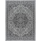 Veranda Black 7 ft. 10 in. x 10 ft. 3 in. Indoor/Outdoor Area Rug