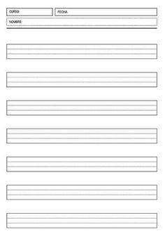 Colección plantillas de escritura de diferentes pautas y cuadriculas 20 modelos -Orientacion Andujar