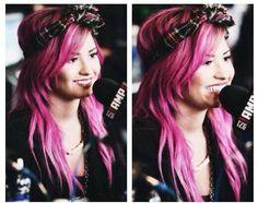 Demi lovato pink hair 2014