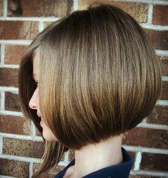 Asymmetrical short bob - side