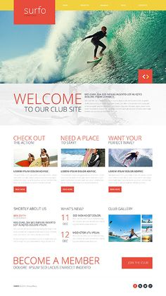 Surfing  Responsive Website Template
