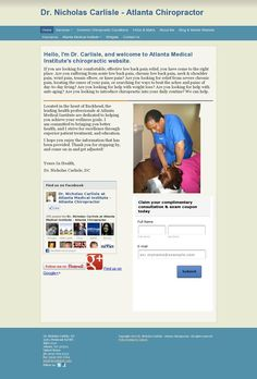 The website 'www.drcarlisledc.com' courtesy of Pinstamatic (http://pinstamatic.com)