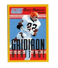 2015 Panini Score Gridiron Heritage Gold #16 Ozzie Newsome Cleveland Browns #Score #ClevelandBrowns