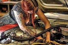 #Woman at #Work #Garage