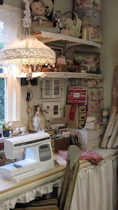 Sewing space (from A Re-Purposed Life)