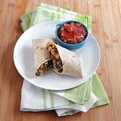 Vegetarian Burritos   MyRecipes.com #myplate #protein #vegetables