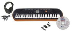Casio SA-76 44-Key Keyboard - Perfectly sized for kids' hands, this tiny keyboard is two tons of fun! Learn to play along with 50 rhythms and 10 built-in songs, in any of 100 timbres.