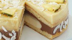 Torta s čokoládovou penou, ananásom a kokosom | Recepty.sk