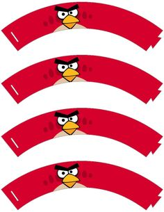 Angry Bird Cupcake Wrappers .... free to use & free to share <3