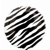Foil Zebra Balloon 18in Oh So Fabulous Party Zebra Supplies- Party City