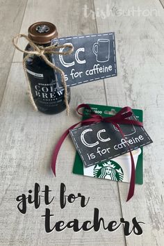 A Teacher Gift that is versatile enough to share with all school ages and one that is almost always a teaching necessity. C is for Caffeine free printable. Preschool Teacher Gifts, Teacher Christmas Gifts, Holiday Gifts, Gifts For Daycare Teachers, Gift For Teacher, Teacher Presents, Funny Teacher Gifts, Preschool Christmas, Christmas Holidays