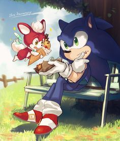 Sonic and Chip are so cute! The Sonic, Sonic The Hedgehog, Kaito, Sonic Unleashed, Best Track, Sonic Fan Art, Super Smash Bros, Great Pictures, Game Art