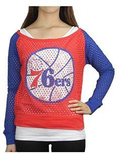 2 PCS SET NBA PHILADELPHIA 76ERS Womens Tank Top Mesh Shirt 2XL White Red -- 477d474af