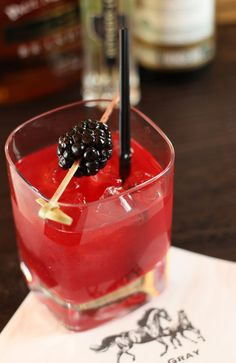 """cabaret cocktail: blackberries + vodka + lemon juice + st germaine = deliciously fresh refreshment! this is going on my """"springtime sips"""" list, for sure!"""